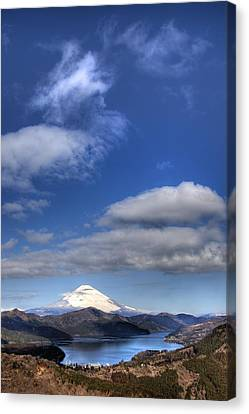 Mt.fuji And Lake Ashinoko Canvas Print