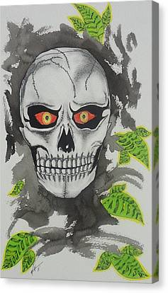 Muerte Canvas Print by Manny Chapa