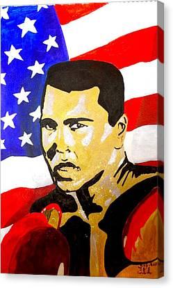 Muhammad Ali Canvas Print by Estelle BRETON-MAYA