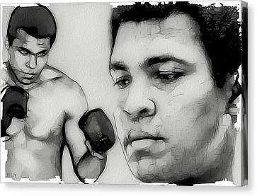 Muhammad Ali Canvas Print by Tilly Williams