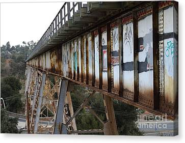 Muir Railroad Trestle In Martinez California . 7d10237 Canvas Print by Wingsdomain Art and Photography