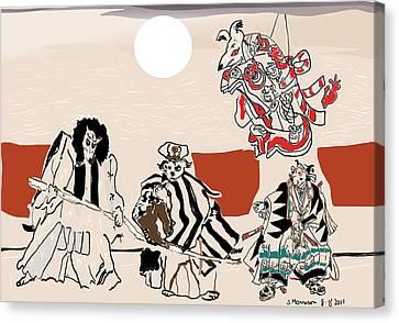 Mukikabuki Theatre Canvas Print by Susie Morrison