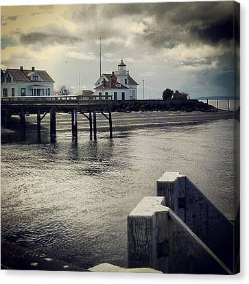 Whidbey Island Ferry Canvas Print - Mukilteo Dock by Sam Hymas