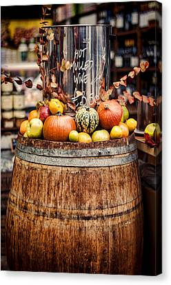 London Canvas Print - Mulled Wine by Heather Applegate