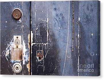 Canvas Print featuring the photograph Multiple Locks by Agnieszka Kubica
