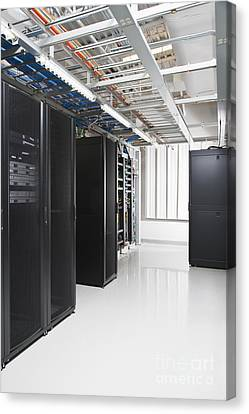 Multiple Servers In Housing Units Canvas Print