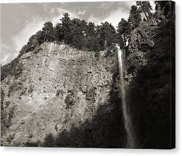 Multnomah Falls Cliff Face Canvas Print