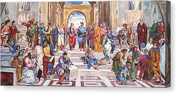 Mural After Raphael Canvas Print by Becky Kim