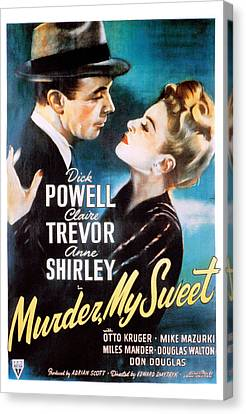 Murder, My Sweet, Dick Powell, Claire Canvas Print
