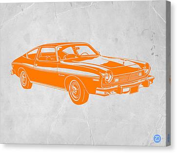 Muscle Car Canvas Print by Naxart Studio