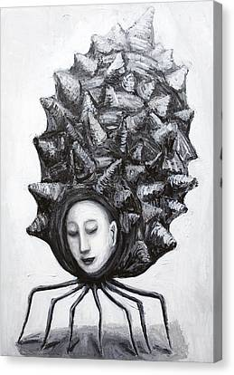 Muse In A Shell Canvas Print by Kazuya Akimoto