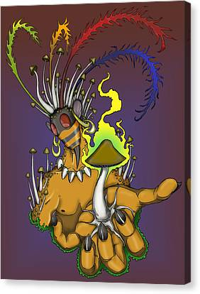 Shrooms Canvas Print - Mushroom Shaman by Adam Spencer