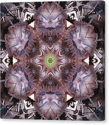 Mushroom With Green Center Canvas Print