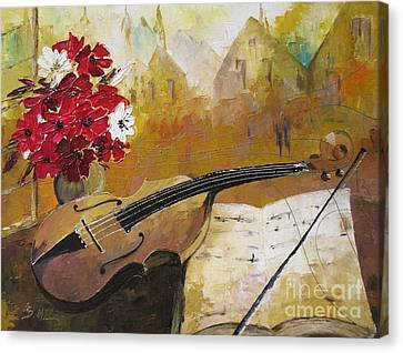 Music Canvas Print by AmaS Art
