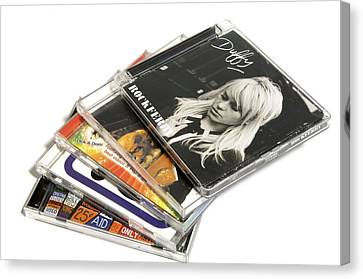 Music Cd Cases Canvas Print by Johnny Greig