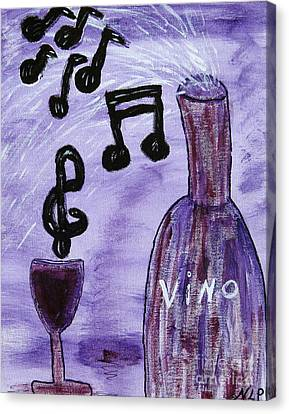 Music In My Glass Canvas Print