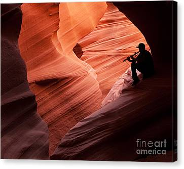 Music In The Canyon Canvas Print by Bob and Nancy Kendrick