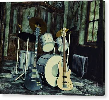 Music Is Everywhere Canvas Print by Jutta Maria Pusl