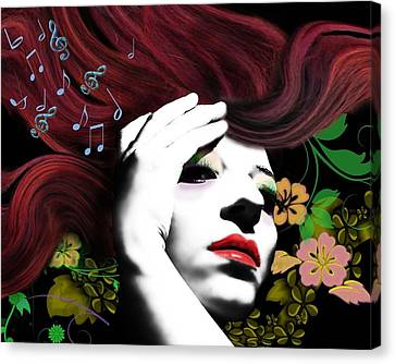 Music Muse Canvas Print by Diana Shively