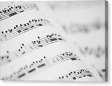 Music Partitures Canvas Print by Copyrights by Sigfrid López