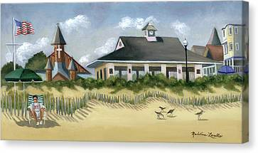 Music Pavillion In Ocean Grove  Canvas Print