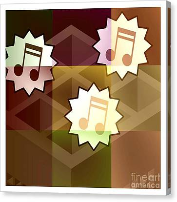 Musical Notes Canvas Print by Holley Jacobs