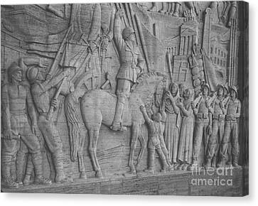 Mussolini, Haut-relief Canvas Print by Photo Researchers