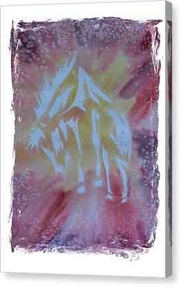 Mustang Dance Canvas Print by Mark Schutter