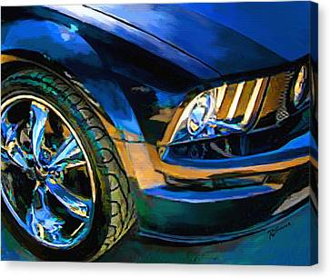 Headlight Canvas Print - Mustang by Robert Smith