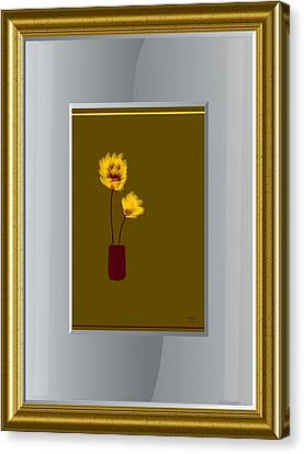 Mustard Vase Canvas Print by Ines Garay-Colomba
