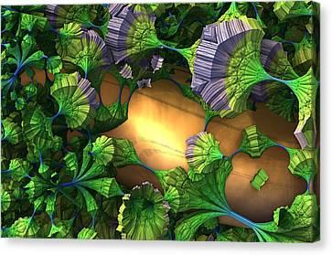 My Alien Garden Canvas Print by Charles Jr Kunkle