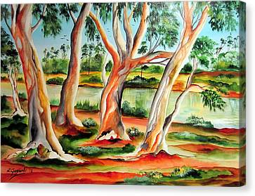 Canvas Print featuring the painting My Australia Passion by Roberto Gagliardi
