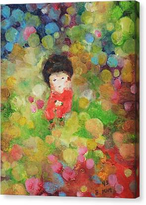 Canvas Print featuring the painting My Babe by Becky Kim
