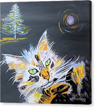My Calico Cat Wizard Canvas Print by Phyllis Kaltenbach