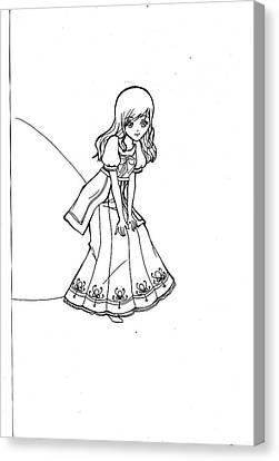 My Drawing 5 Canvas Print by Miftahur Rizqiyah
