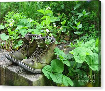 Canvas Print featuring the photograph My Favorite Boots by Nancy Patterson