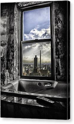 My Favorite Channel Is Manhattan View Canvas Print by Madeline Ellis