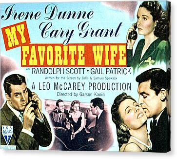 My Favorite Wife, Cary Grant, Randolph Canvas Print by Everett
