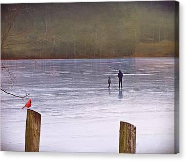 My First Walk On Water Canvas Print by David Dehner