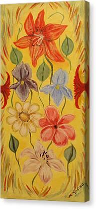 My Garden Canvas Print by Maria Medina