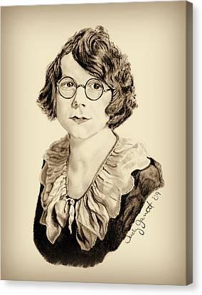 My Grandmother Stella  Canvas Print by Judy Garrett