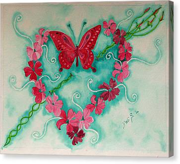 My Heart Has Been Pierced By Love Canvas Print by Debi Singer