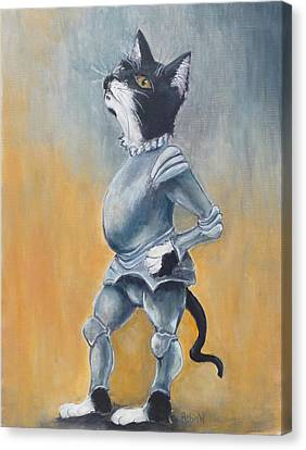 My Kingdom For Some Catnip Canvas Print by Robin Wiesneth