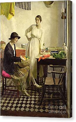 My Kitchen Canvas Print by Harold Harvey