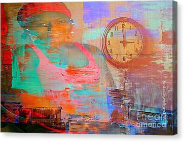 Painted Details Canvas Print - My Life As Time Goes By by Fania Simon