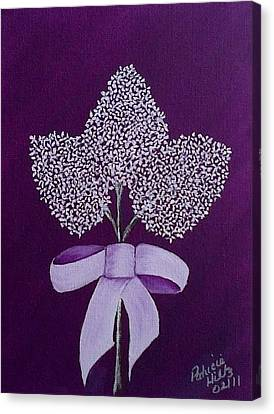 Canvas Print featuring the painting My Lilas by Patricia Hiltz