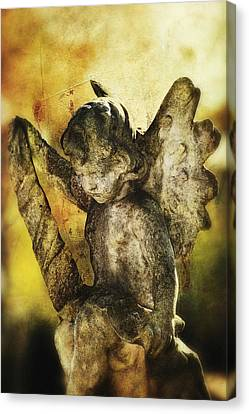 Canvas Print featuring the digital art My Little Angel 02 by Kevin Chippindall