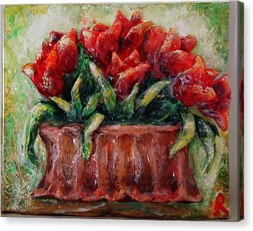 My Little Tulips  Canvas Print