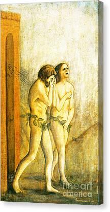 My Masaccio Expulsion Of Adam And Eve Canvas Print by Jerome Stumphauzer