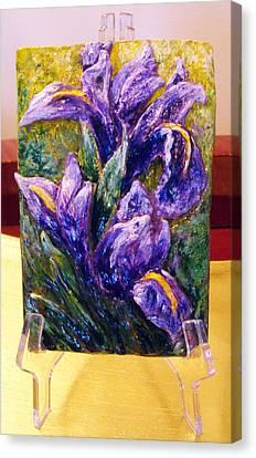 My Mini Irises Canvas Print